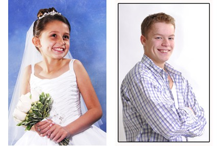 first communion and model portraits