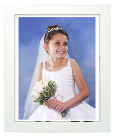 portrait package with white frame